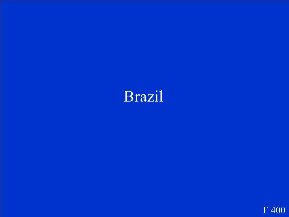 ¿Qué es el país más grande de América del Sur? F 400