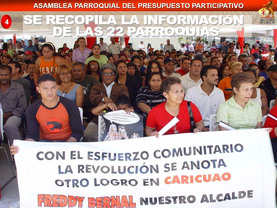 ASAMBLEA PARROQUIAL DEL PRESUPUESTO PARTICIPATIVO 4