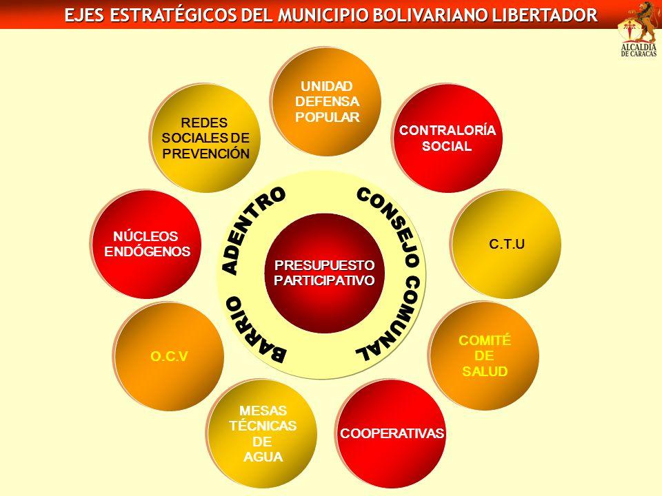 REDES SOCIALES DE PREVENCIÓN REDES SOCIALES DE PREVENCIÓN NÚCLEOS ENDÓGENOS NÚCLEOS ENDÓGENOS O.C.V MESAS TÉCNICAS DE AGUA MESAS TÉCNICAS DE AGUA COOP
