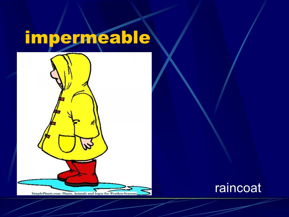 impermeable raincoat