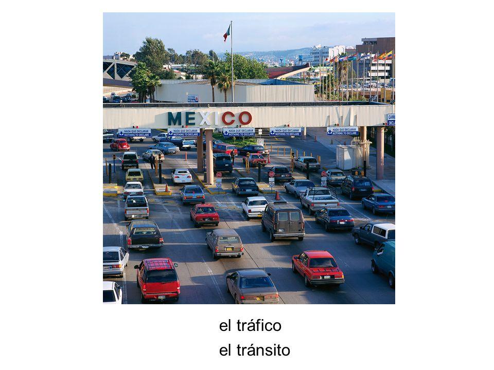 el tráfico el tránsito