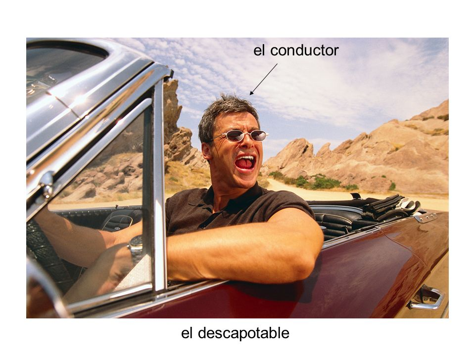 el conductor el descapotable