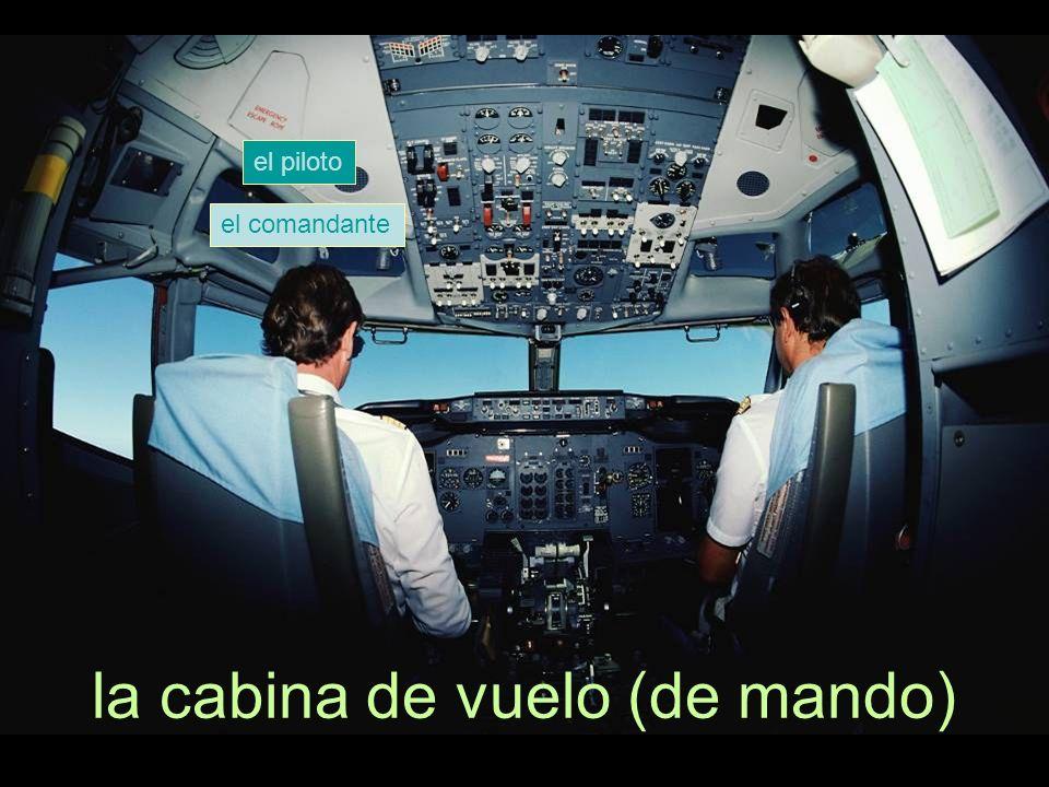 el piloto el comandante la cabina de vuelo (de mando)