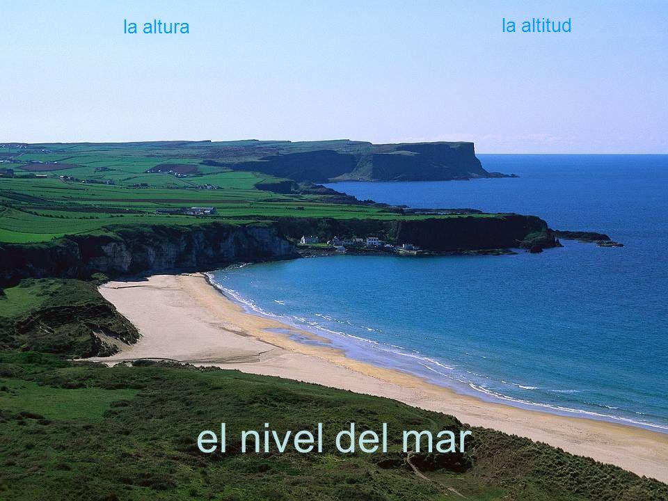 el nivel del mar la altura la altitud