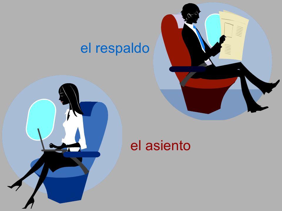 el respaldo el asiento