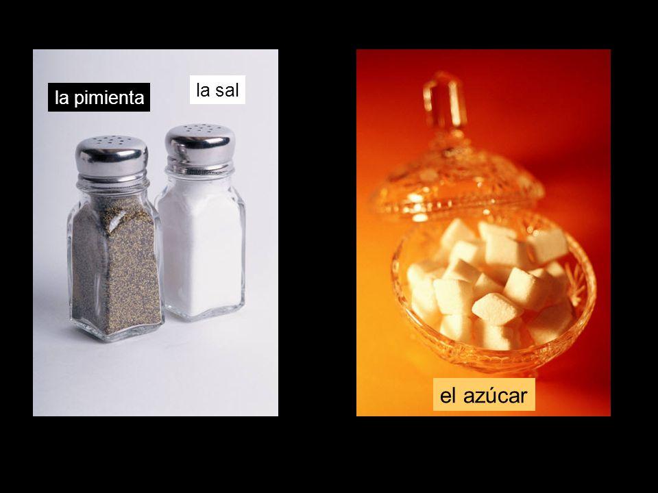la pimienta la sal el azúcar