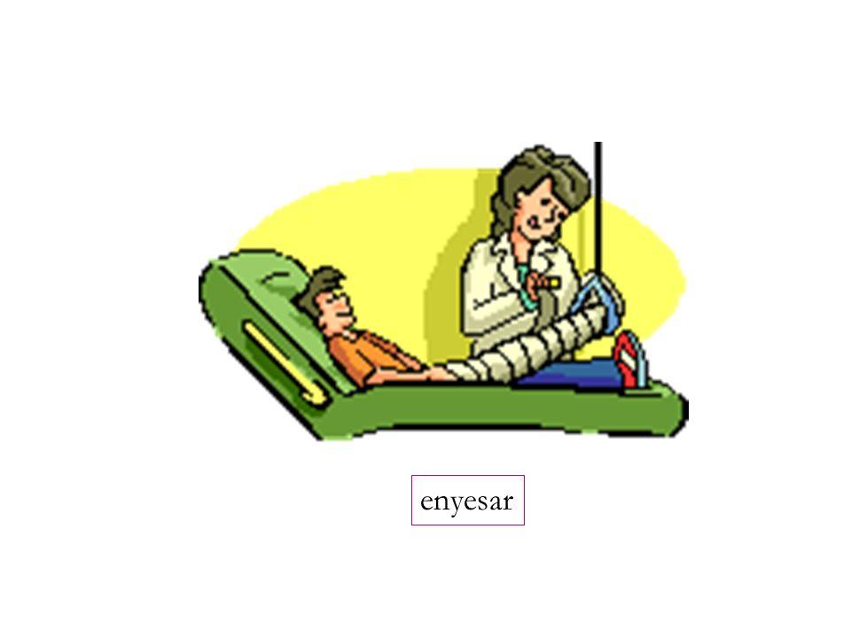 tomar(le) el pulso sacar (tomar) una radiografía fractura puntos (suturas) la mesa de operaciones to take the pulse to take an x-ray fracture stitches, sutures operating table la cicatriz scar