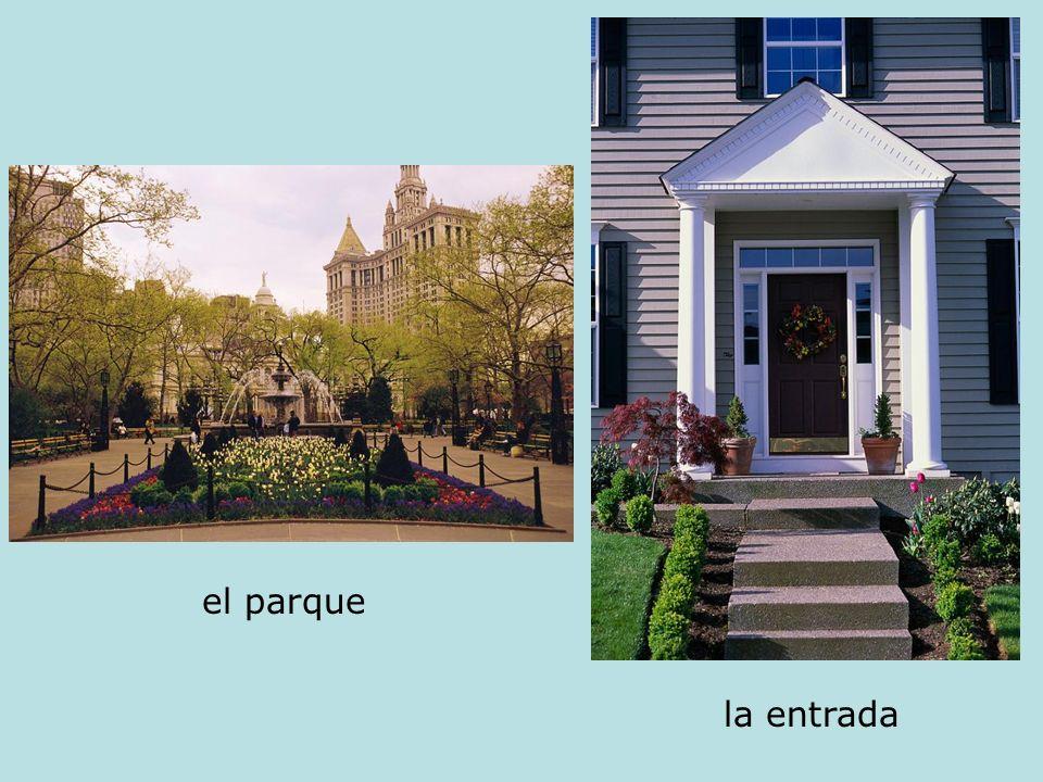 el parque la entrada