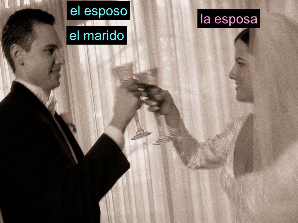 el esposo el marido la esposa