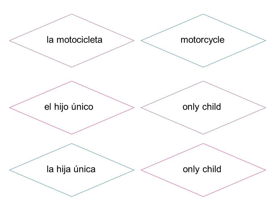 la motocicleta el hijo único la hija única motorcycle only child