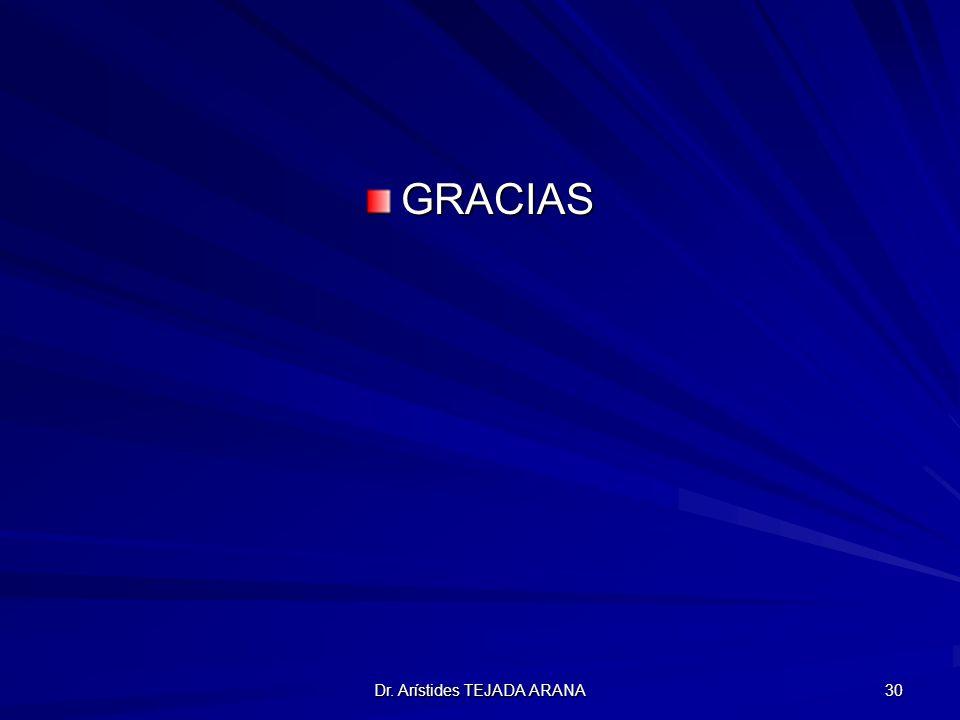 Dr. Arístides TEJADA ARANA 30 GRACIAS
