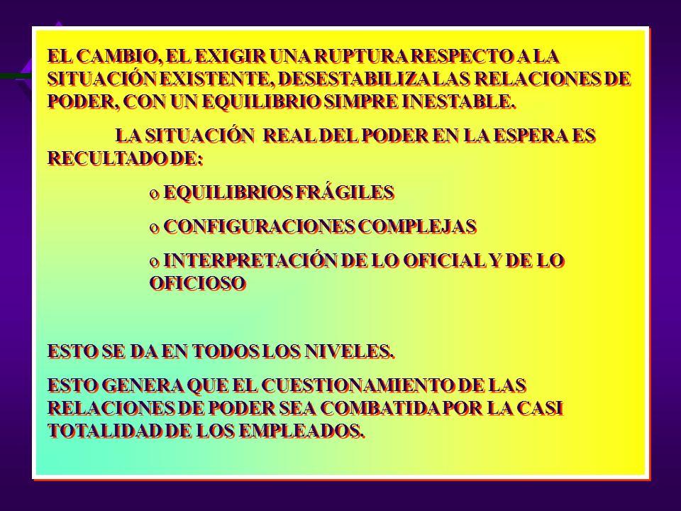 EL FUNCIONAMIENTO DE LAS EMPRESAS SE RIGE POR REGLAS Y NORMAS QUE SON UNA DE LAS EXPRESIONES DEL PODER. LOS ASPECTOS FORMALES DEL FUNCIONAMIENTO DE LA
