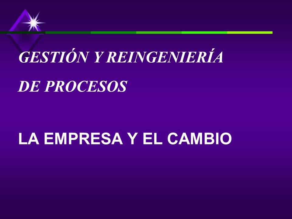 GESTIÓN Y REINGENIERÍA DE PROCESOS LA EMPRESA Y EL CAMBIO