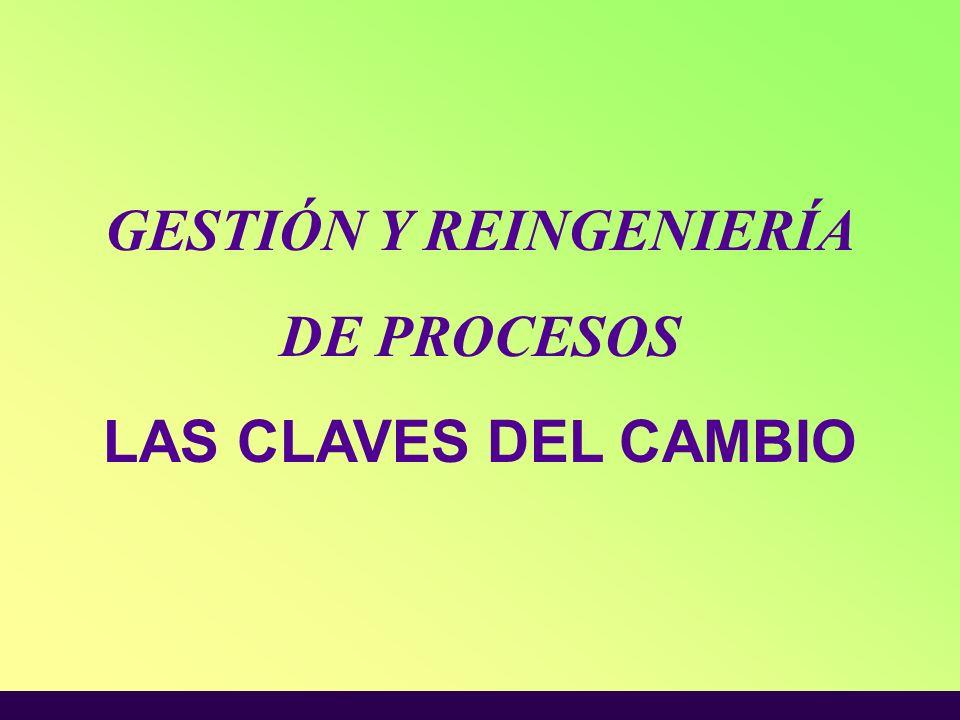 GESTIÓN Y REINGENIERÍA DE PROCESOS LAS CLAVES DEL CAMBIO