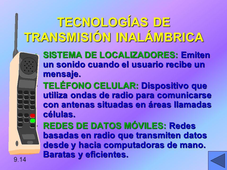 SATÉLITE DE ÓRBITA BAJA UPLINK TRANSMISIÓN DE MICROONDAS DOWNLINK 9.13