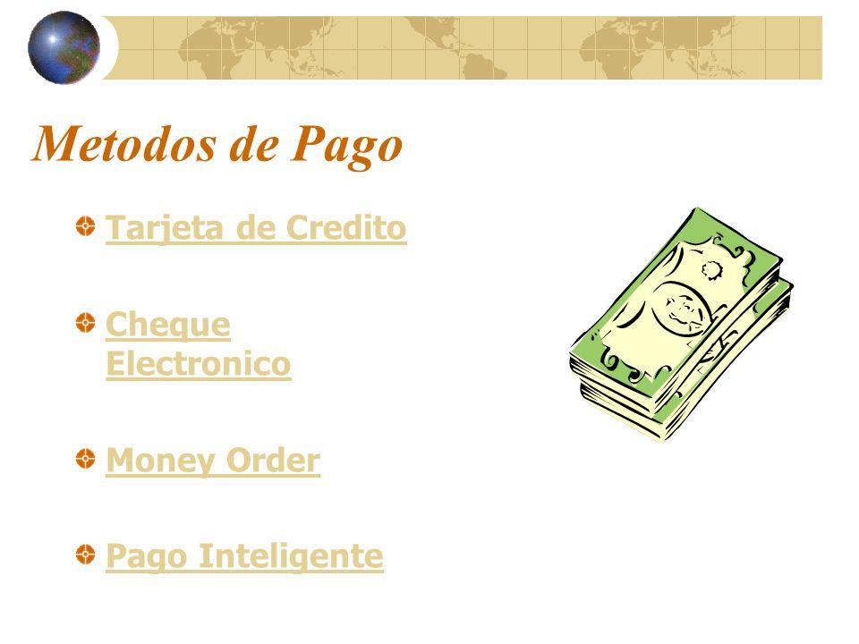 Metodos de Pago Tarjeta de Credito Cheque Electronico Money Order Pago Inteligente