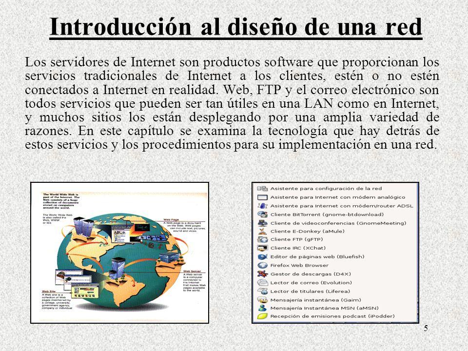 5 Los servidores de Internet son productos software que proporcionan los servicios tradicionales de Internet a los clientes, estén o no estén conectad