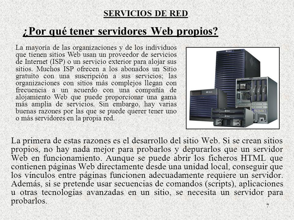 8 Un servidor Web es un dispositivo más bien simple.