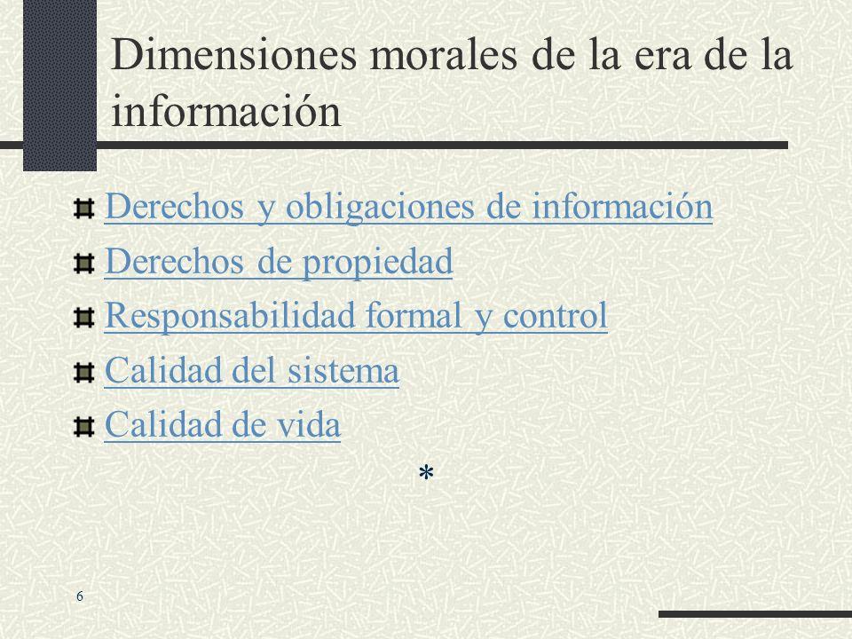 INDIVIDUAL SOCIEDAD POLITICA ETICAS SOCIALES CUESTIONES POLITICAS CALIDAD DE VIDA CALIDAD DE VIDA DERECHOS Y OBLIGACIONES DE INFORMACION DERECHOS Y OB