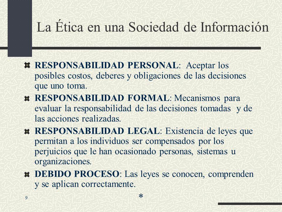 ETICA Principios morales que, los individuos que actúan como agentes libres, pueden usar para tomar decisiones que guíen su conducta. 8