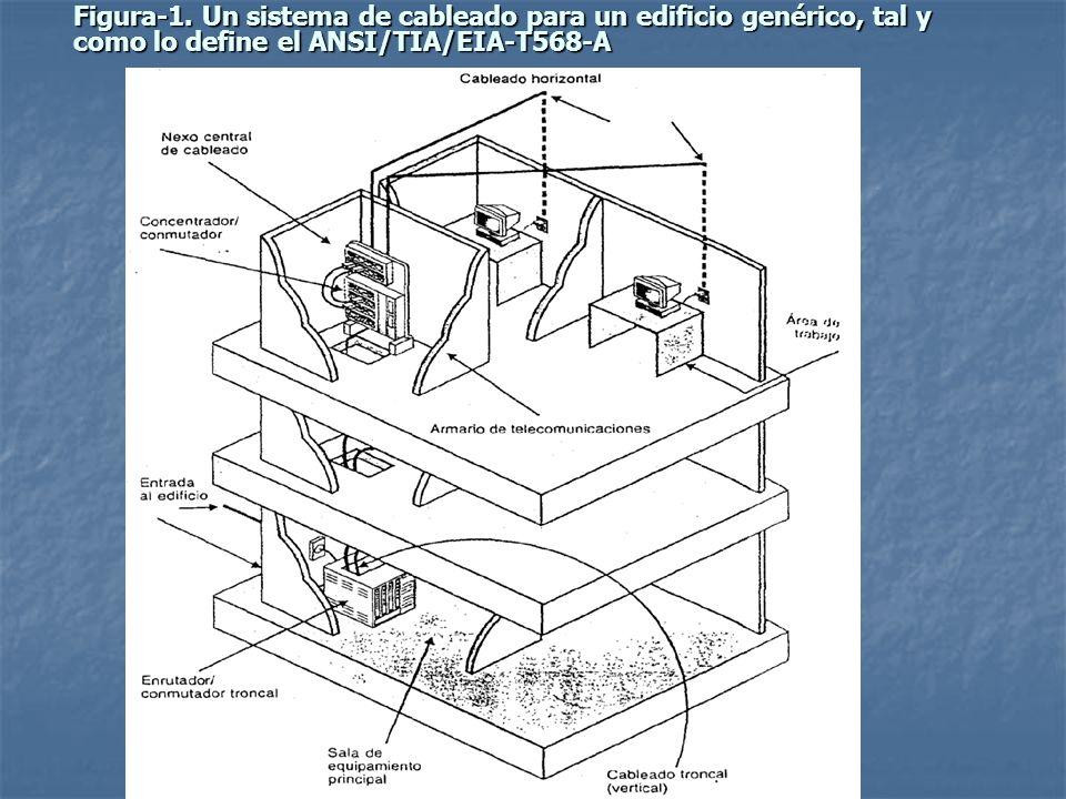 Figura-1. Un sistema de cableado para un edificio genérico, tal y como lo define el ANSI/TIA/EIA-T568-A