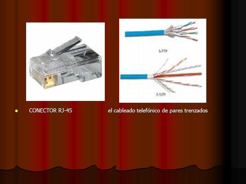 CONECTOR RJ-45 el cableado telefónico de pares trenzados CONECTOR RJ-45 el cableado telefónico de pares trenzados