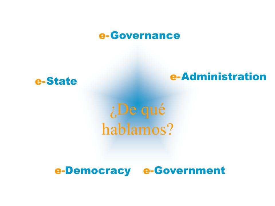 ¿De qué hablamos? Democracy Administration Government Governance State e-