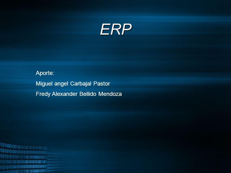 MIGUEL ANGEL CARBAJAL PASTOR ERP Aporte: Miguel angel Carbajal Pastor Fredy Alexander Bellido Mendoza