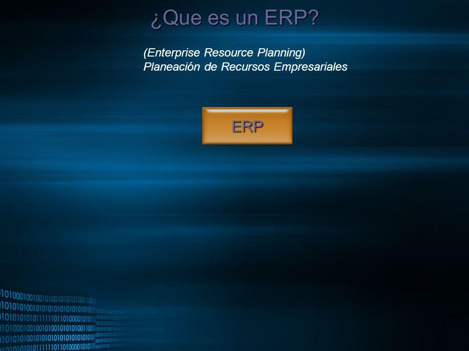 MIGUEL ANGEL CARBAJAL PASTOR ¿Que es un ERP? ERP (Enterprise Resource Planning) Planeación de Recursos Empresariales