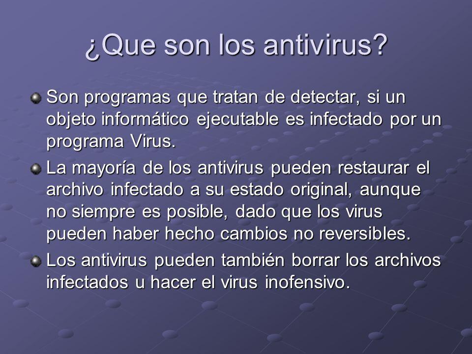 ¿Que son los antivirus.