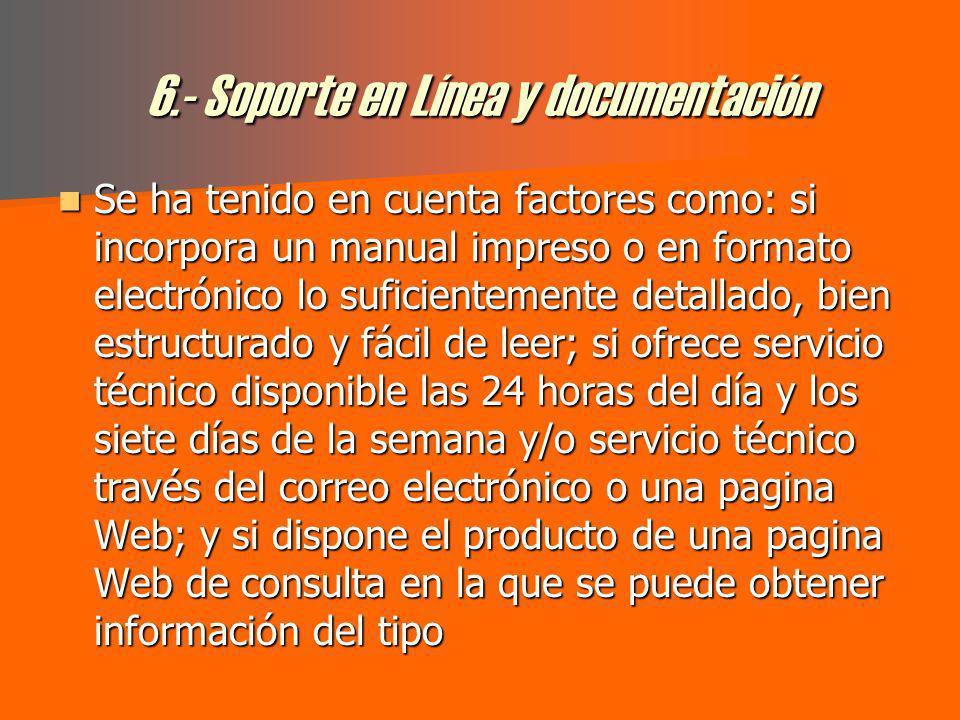 5.- Facilidad de empleo y configuración Por supuesto, los aspectos de facilidad de empleo y configuración de las distintas herramientas, resultan fundamentales para que el usuario medio obtenga el máximo provecho de este tipo de productos.