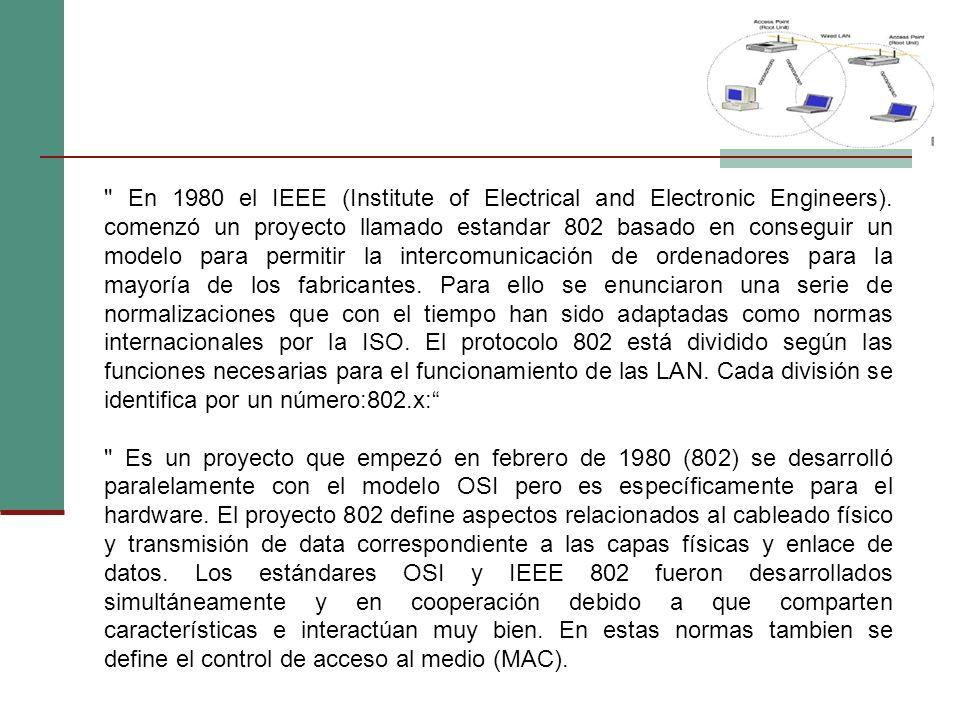 En 1980 el IEEE (Institute of Electrical and Electronic Engineers).