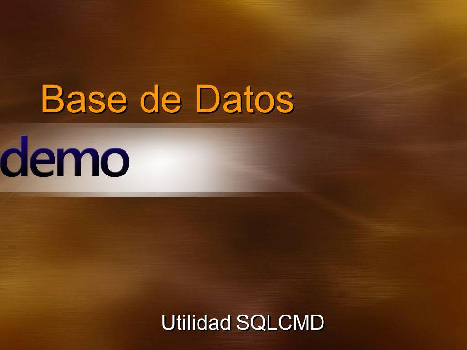 Base de Datos Utilidad SQLCMD