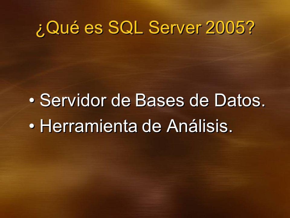 ¿Qué es SQL Server 2005.Servidor de Bases de Datos.