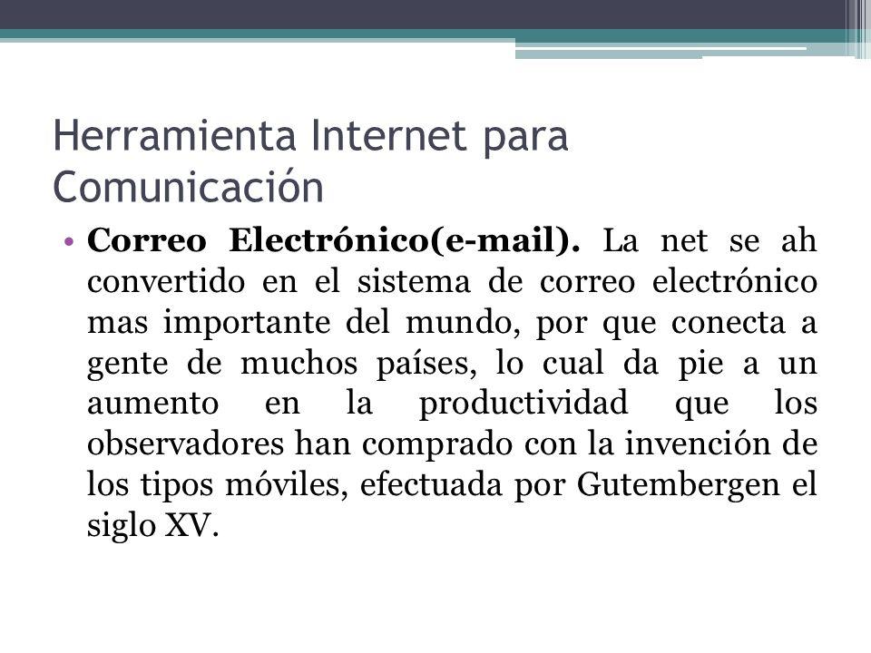 Herramienta Internet para Comunicación Grupos de Noticia(foros).