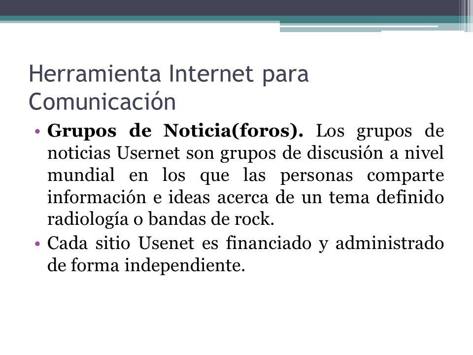 Herramienta Internet para Comunicación Listserv.