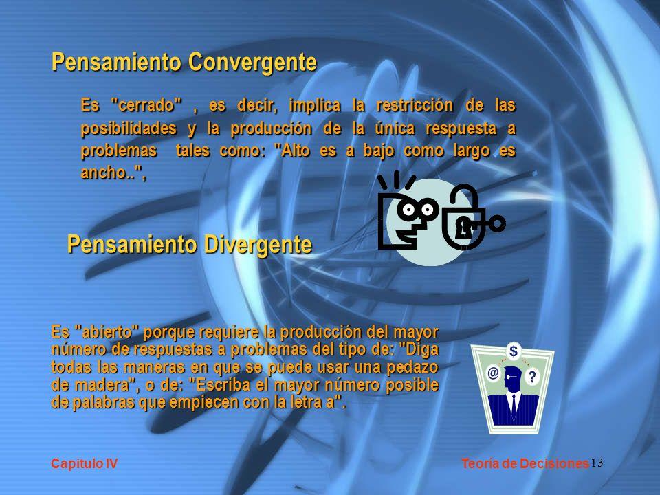 13 Pensamiento Convergente Es