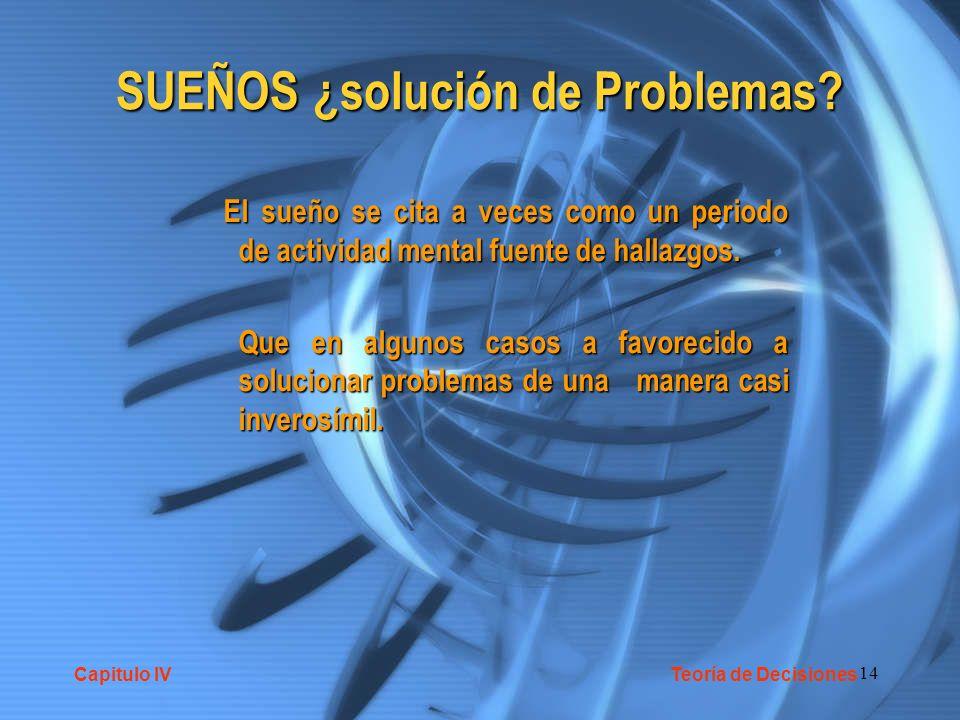 14 SUEÑOS ¿solución de Problemas.