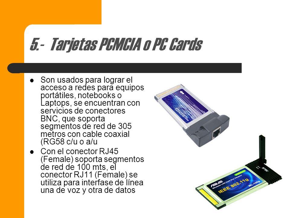 4.- Tarjetas PCI Para instalarse en bus de 32 bits expandidle a 64 bits. PCI siglas de Peripherical Component Interconect Con las tarjetas PCI se esta