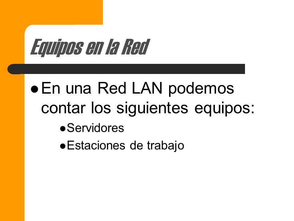Equipos en la RED