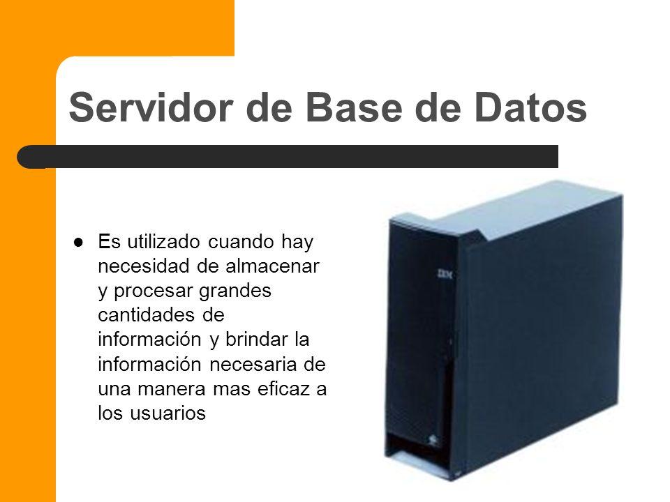 Servidor de Impresoras Este servidor permite la rápida impresión de una o mas impresoras en la red, permitiendo a cualquier usuario indistintamente en