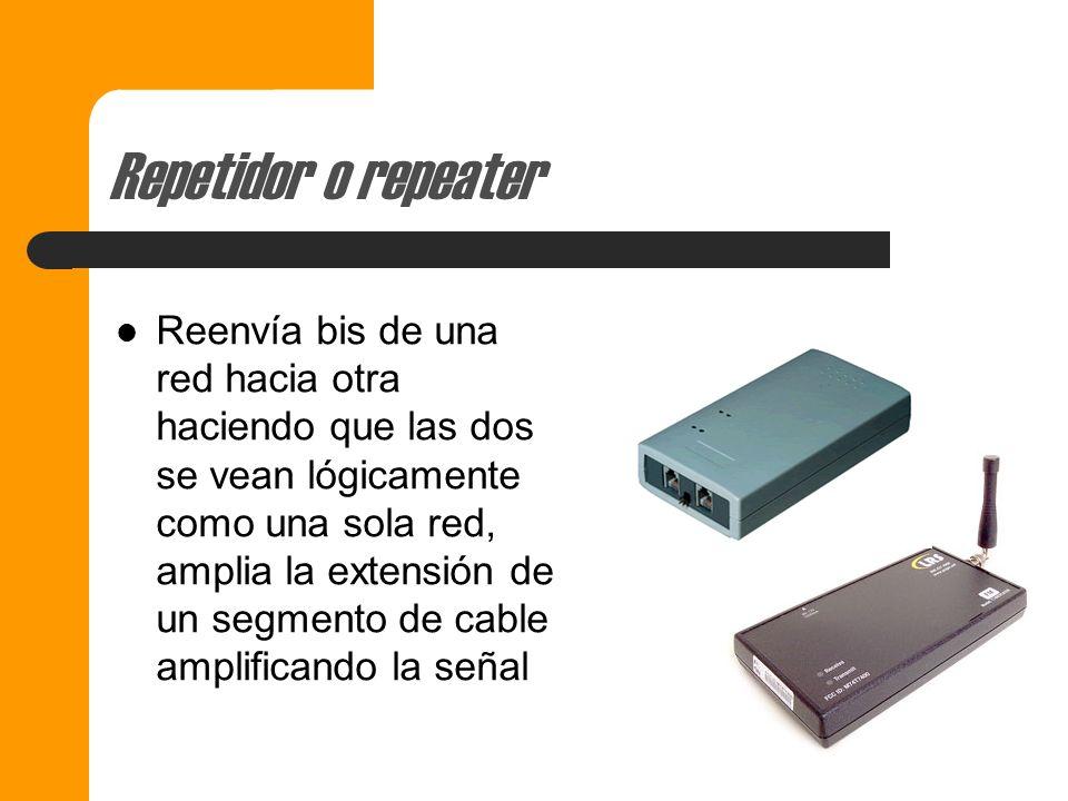 Componentes para interconexión de Redes Repetidor o repeater Bridges o Puentes Ruteadores o Routers