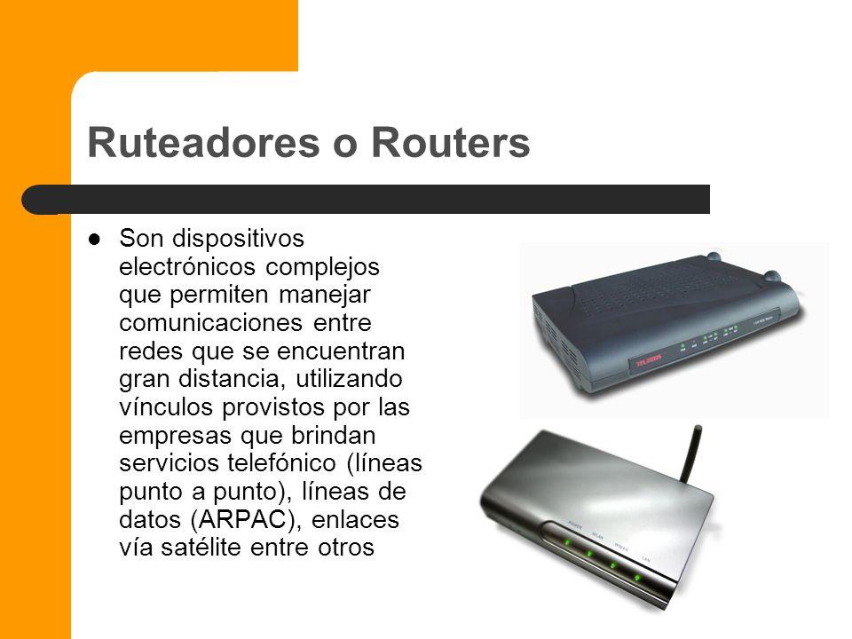 Bridges o Puentes Son equipos electrónicos sofisticados y costosos que permiten enlazar redes entre si, a menudo realizan adaptaciones de protocolo, p