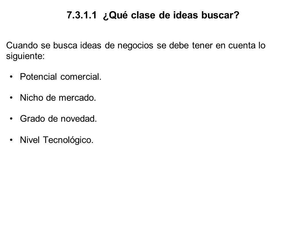 7.3.1.2 ¿De dónde provienen las ideas.
