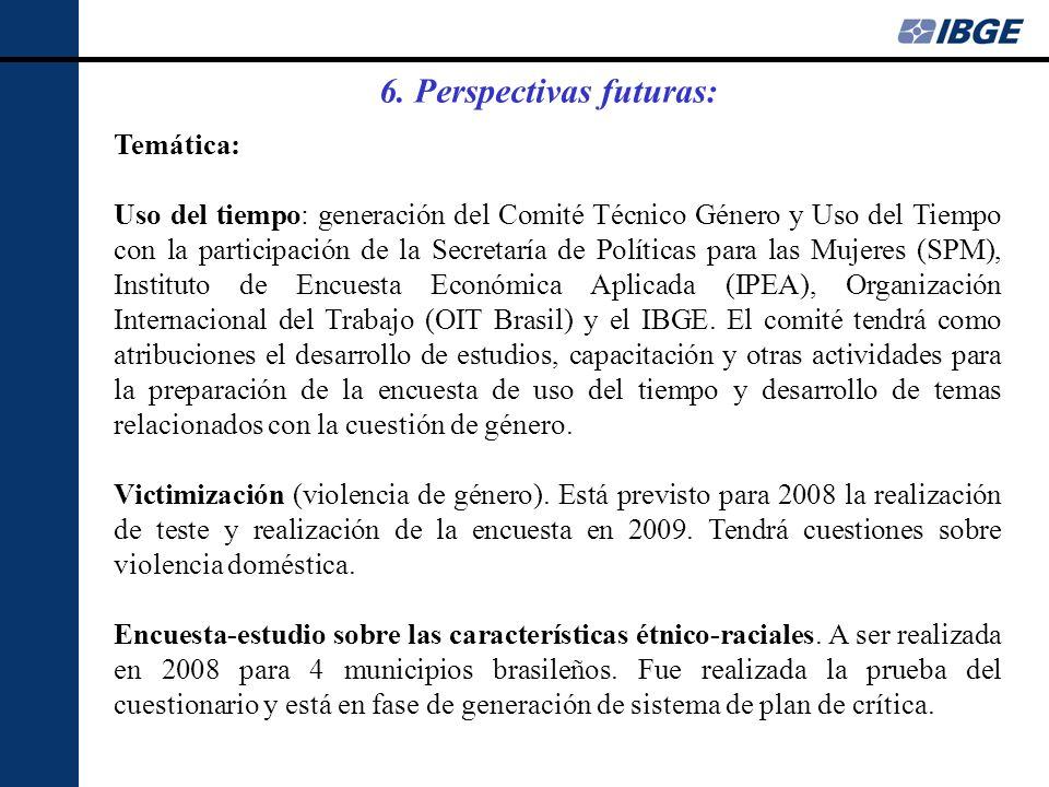 Temática: Uso del tiempo: generación del Comité Técnico Género y Uso del Tiempo con la participación de la Secretaría de Políticas para las Mujeres (SPM), Instituto de Encuesta Económica Aplicada (IPEA), Organización Internacional del Trabajo (OIT Brasil) y el IBGE.