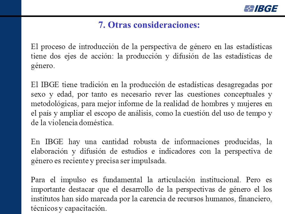 El proceso de introducción de la perspectiva de género en las estadísticas tiene dos ejes de acción: la producción y difusión de las estadísticas de g