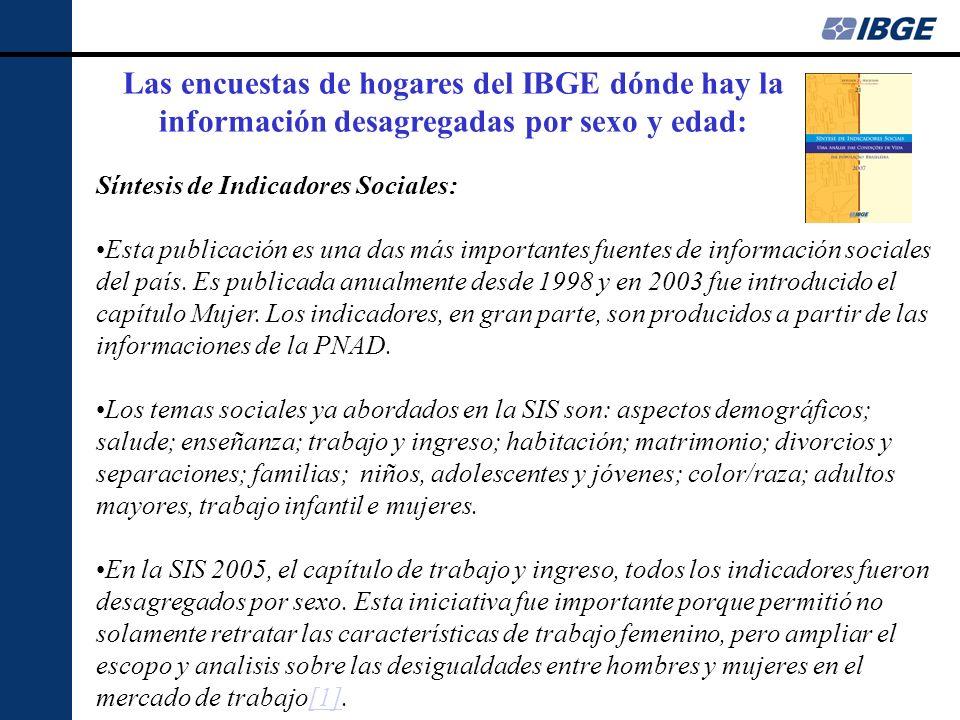 Síntesis de Indicadores Sociales: Esta publicación es una das más importantes fuentes de información sociales del país.