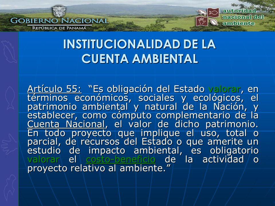 Artículo 55: Es obligación del Estado valorar, en términos económicos, sociales y ecológicos, el patrimonio ambiental y natural de la Nación, y establ