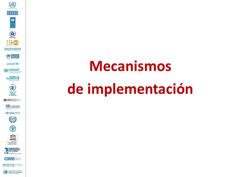 Mecanismos de implementación