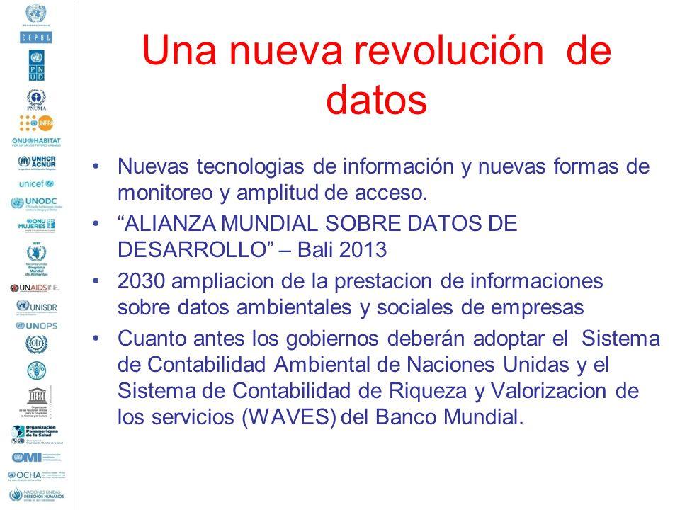 Una nueva revolución de datos Nuevas tecnologias de información y nuevas formas de monitoreo y amplitud de acceso. ALIANZA MUNDIAL SOBRE DATOS DE DESA